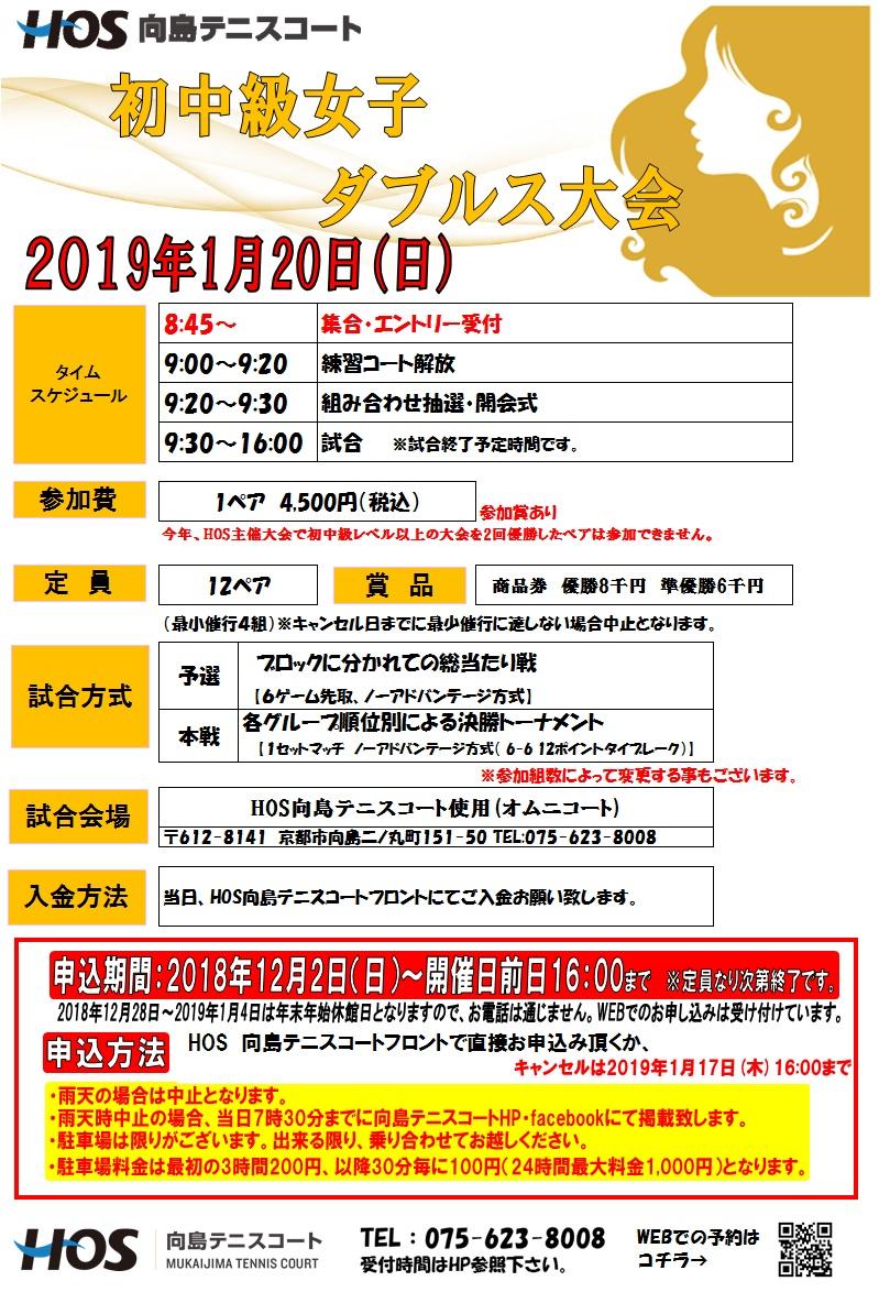 2019.01 初中級女子D休