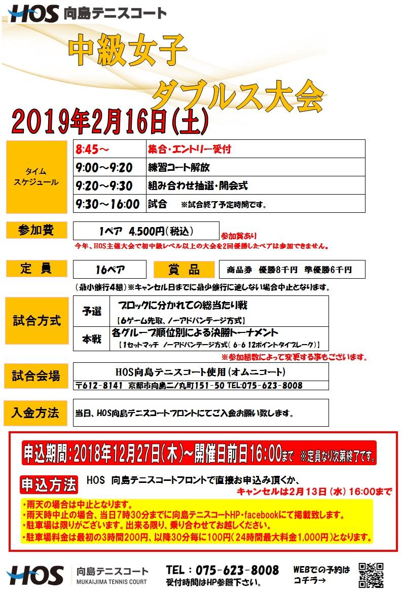 2019.2中級女子ダブルス(休日)